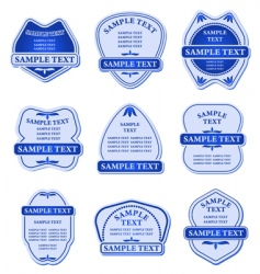 set of blue labels vector image vector image