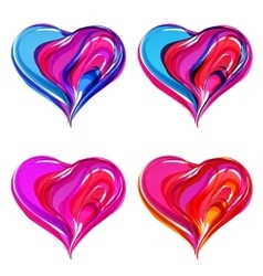 Colorful abstract hearts vector image vector image