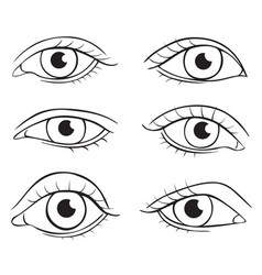 eyes different shapes vector image vector image
