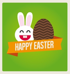 happy easter cards bunny egg vector image