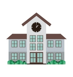 High school structure with clock vector