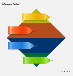 infographic panel with arrows on rhombus vector image vector image