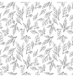 white seamless leaves vector image vector image