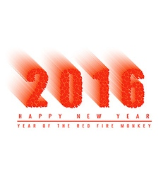 2016 happy new year text background of fiery ball vector