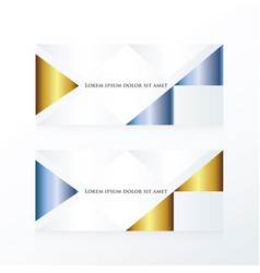 abstract banner modern gold and blue vector image