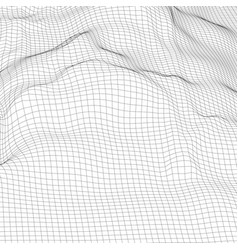 abstract digital wireframe landscape background vector image
