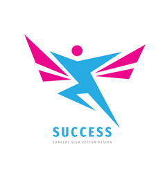 active human character - business logo vector image