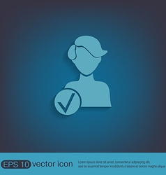 add friend avatar vector image