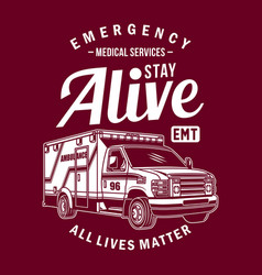 Ambulance van graphic vector