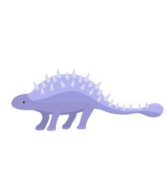 Ankylosaurus dinosaur graphics in cartoon style vector