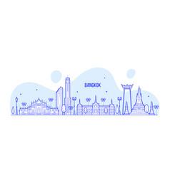 Bangkok skyline thailand big city buildings vector