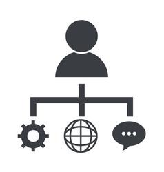 business social network cartoon vector image