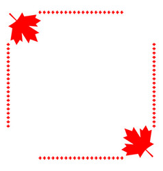 Canadian flag corner border vector