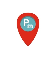 Car parking pointer icon flat style vector image