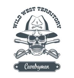 Cavalryman skull logo vector