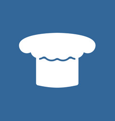 chef hat icon cook cap white vector image