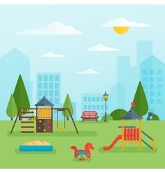 Children playground at park vector