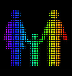 colored dotted family child icon vector image