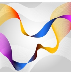 Colored ribbon vector