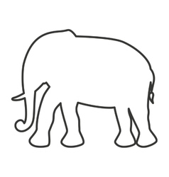 Cute elephant animal tender isolated icon vector