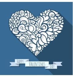 decoration heart 06 vector image