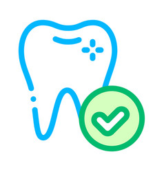 dentist stomatology healthy tooth icon vector image