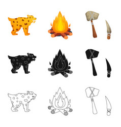 Design evolution and neolithic icon vector