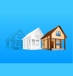design of hause vector image