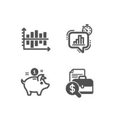 Diagram chart statistics timer and saving money vector