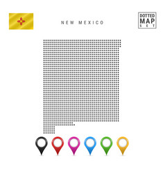 Dots pattern map new mexico stylized vector