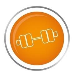 Dumbbells gym equipment vector