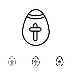 easter egg egg holiday holidays bold and thin vector image