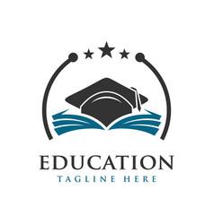 educational logo vector image