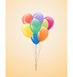 Festive balloons in the bundle vector