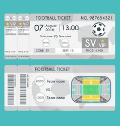 football ticket modern design soccer stadium vector image