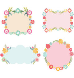 Frame with Floral set vector image