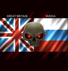 Great britain russia conflict vector