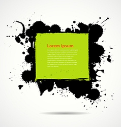 Green and black ink add text your space vector