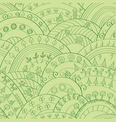 green hills pattern vector image