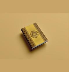 holy book al quran cover design vector image