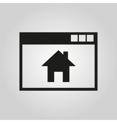Homepage icon design Home symbol web vector