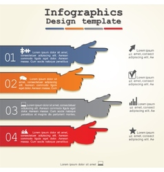 Infographic report template with hands vector image