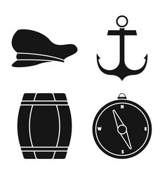 Isolated object attributes and vintage logo vector