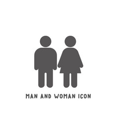 man and woman icon simple flat style vector image