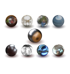 metal ball set vector image