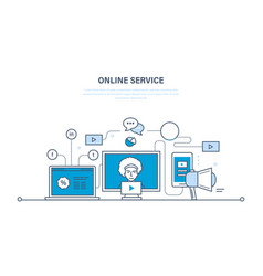 modern technology communications online services vector image