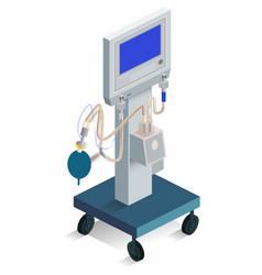 Modern ventilator breathing medical product vector