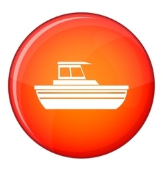 Motor boat icon flat style vector