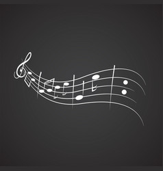 Music notation vector