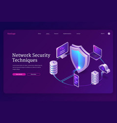 network security techniques banner vector image